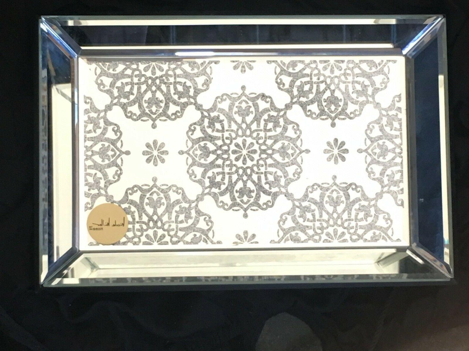 beautiful mirror vanity jewelry tray glitter brand
