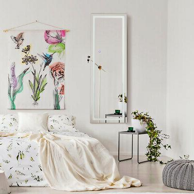 Bedroom Door &Wall Jewelry Cabinet Screen LED White