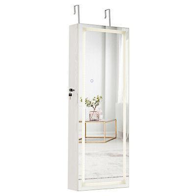 bedroom door and wall mount jewelry cabinet
