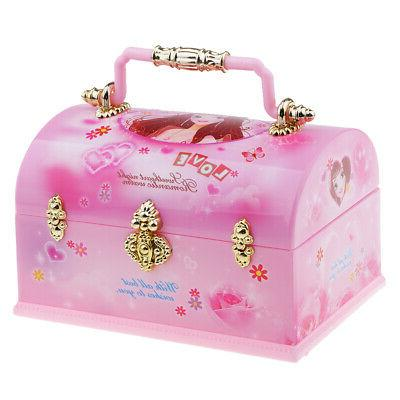 collectible jewelry accs case with mirror chest
