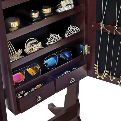 Convenient Lockable Mirror Cabinet Armoire Standing