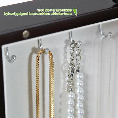 Dark Wooden Jewelry Amoire Organizer Storage 6
