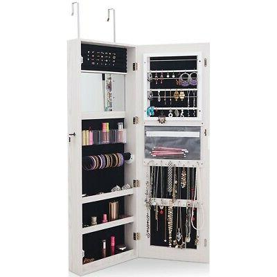 door wall mount touch screen mirrored jewelry
