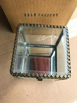 Pottery Jewelry Small Display NEW Mirrored Antique