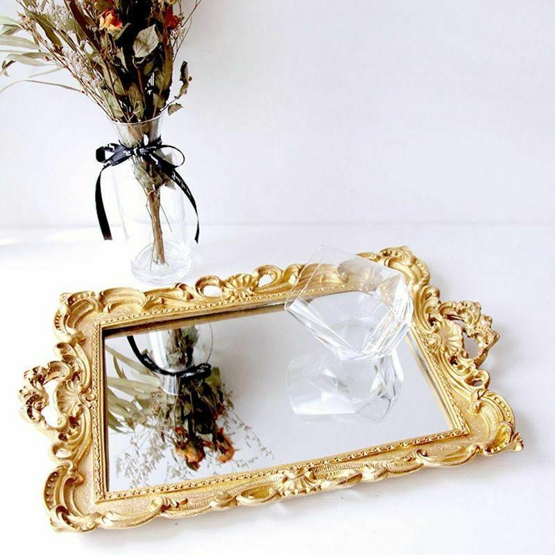 European Resin Mirror Jewelry Tray Tray