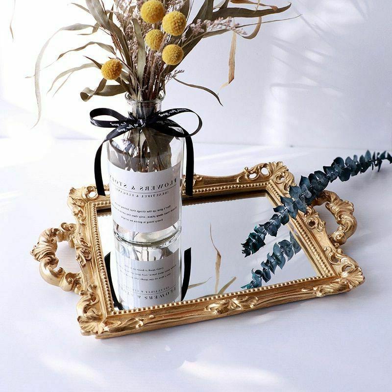 European Resin Mirror Jewelry Tray Tray Home