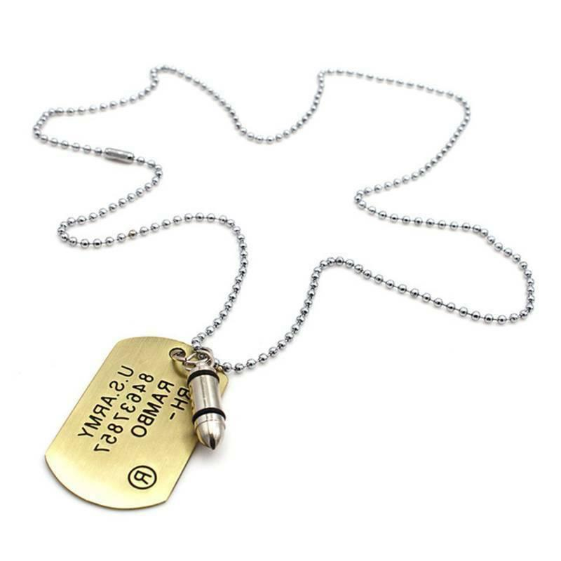 fashion unisex womens mens personalized necklace tag