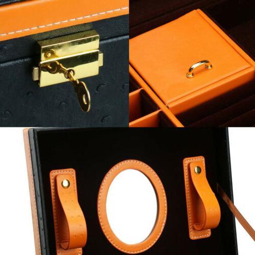 Faux Treasure Organizer Drawer Lock and Mirror