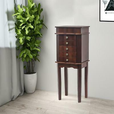 free standing jewelry cabinet armoire storage chest