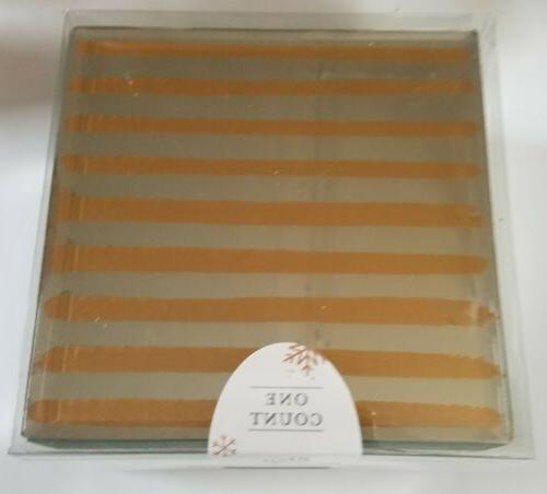 glass mirror jewelry box gold line stripes