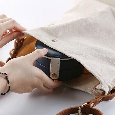 Jewelry Storage Case Mirror Leather Multi Grids