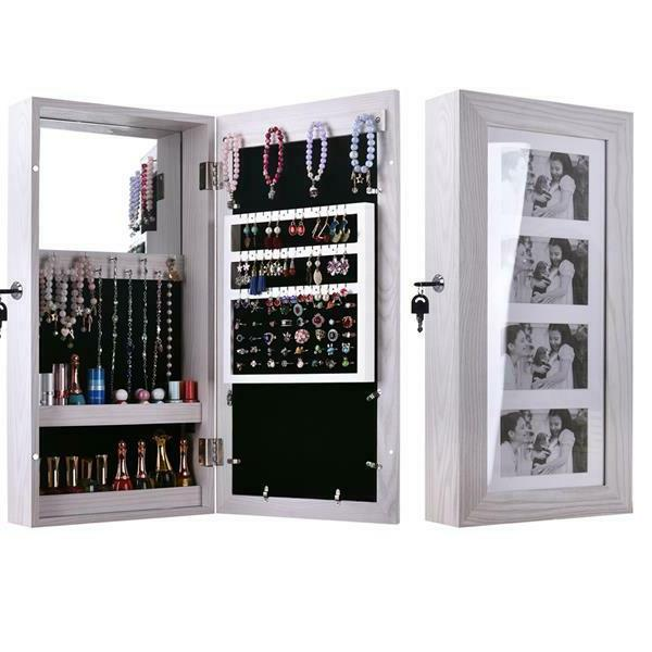 hanging wall mount photo display jewelry armoire
