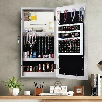 Hanging Display Jewelry Armoire Organizer Box W/