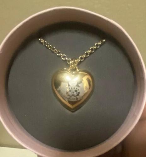 heart lip gloss mirror locket pendant necklace