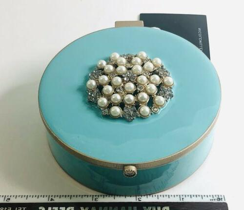 Nicole Lacquered Bejeweled Jewelry Box Mirror