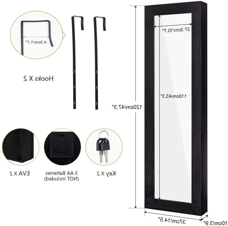 Jewelry Wood with Full Length Mirror