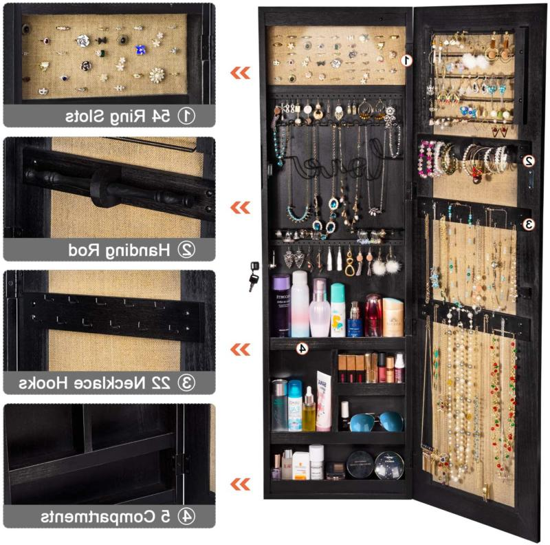 Jewelry Armoire Solid Wood Full Length