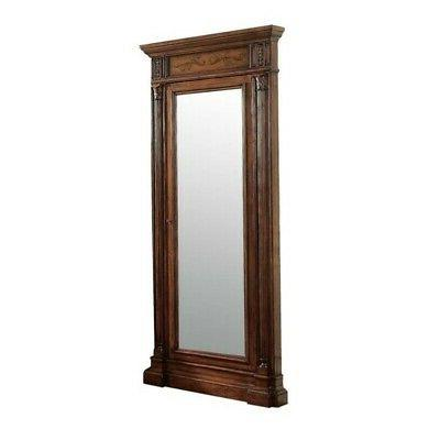 jewelry armoire with mirror in cherry