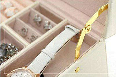 SZTulip jewelry accessories case jewelry mirror lockable