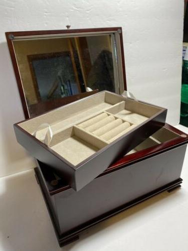 """Mele Jewelry Wood Walnut Full Mirror x 8"""""""