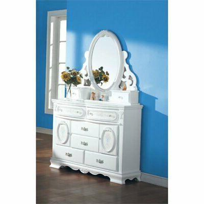 jewelry mirror in white