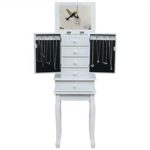 Necklace Jewelry Holder Cabinet Amoire Storage Organizer 5 D