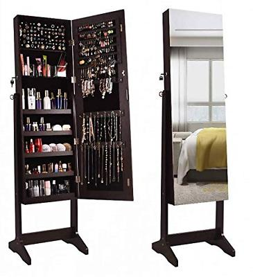 jewelry organizer armoire cabinet standing box full