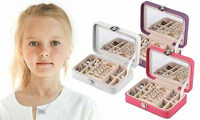 kids jewelry box with built in mirror
