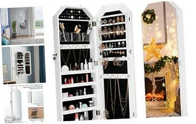 langria jewelry cabinet organizer with frameless full