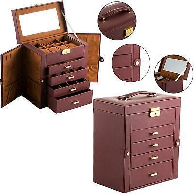 Large Jewelry Box Case Necklace Organizer