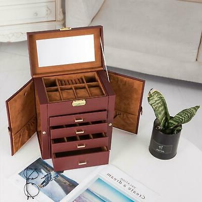 large jewelry box case necklace ring storage