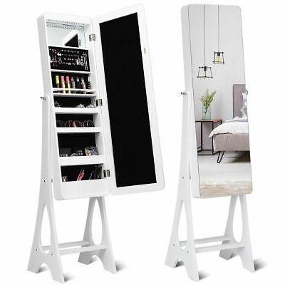led jewelry cabinet standing armoire organizer w