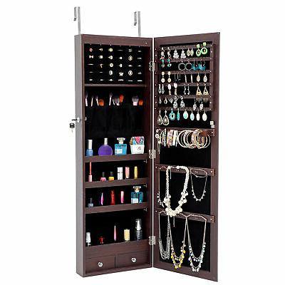 LED Full jewelry organizer Lockable