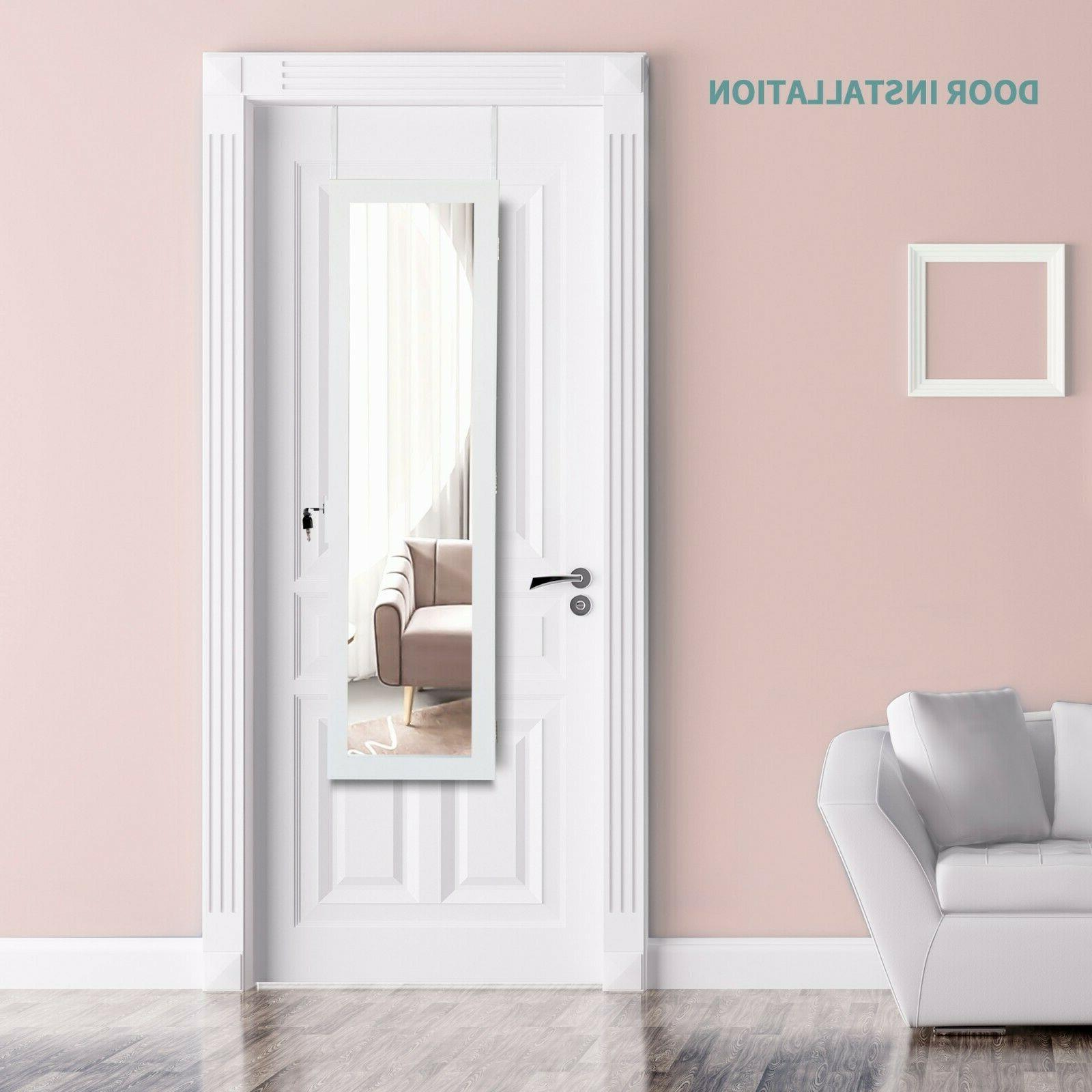 LED Wall/Door Mounted Jewelry Armoire Length