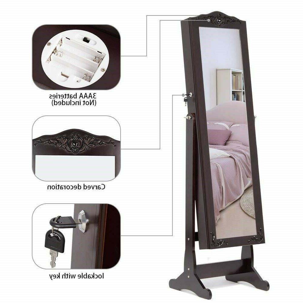 Lockable Mirror Brown with LED
