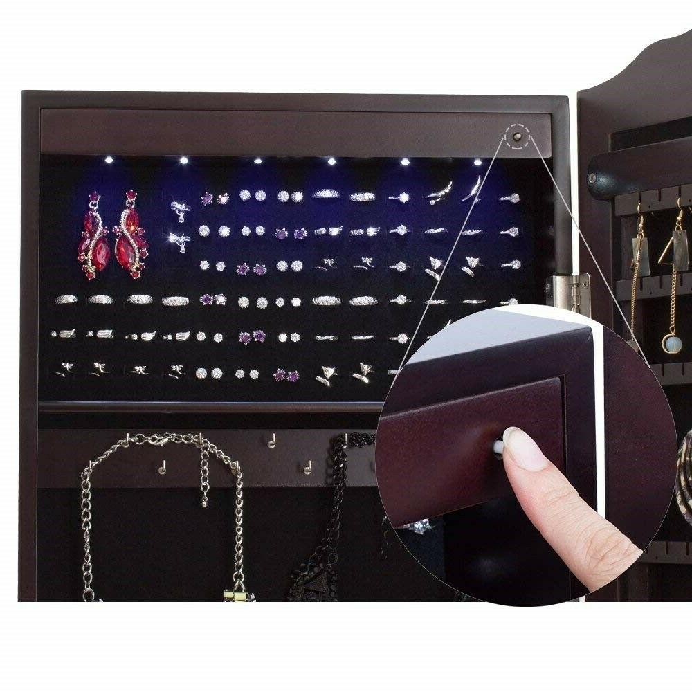 Lockable Full-length Mirror with LED Lights