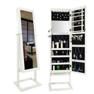 Lockable Large Jewelry Mirror Cabinet Armoire Dressing Mirro