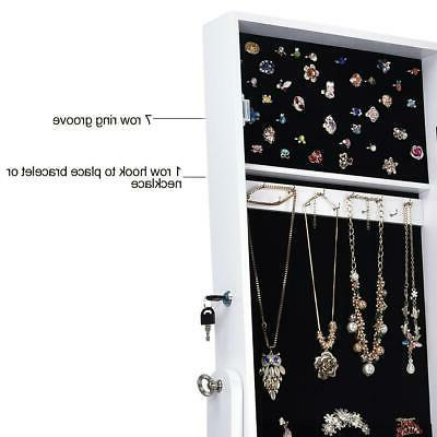 Lockable Jewelry Dressing Armoire Organizer Storage