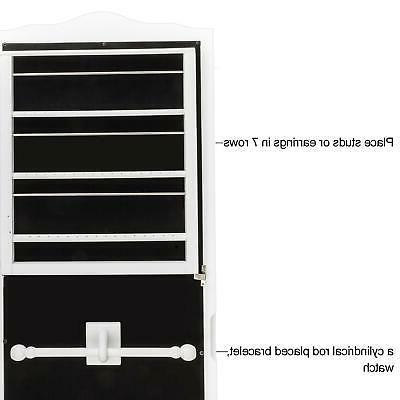 Lockable Jewelry Dressing Mirror Storage Floor