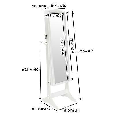 Lockable Dressing Armoire Mirror Storage
