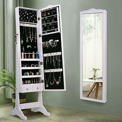 lockable mirrored jewelry cabinet armoire mirror organizer