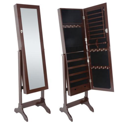 Lockable Mirrored Armoire Mirror Free