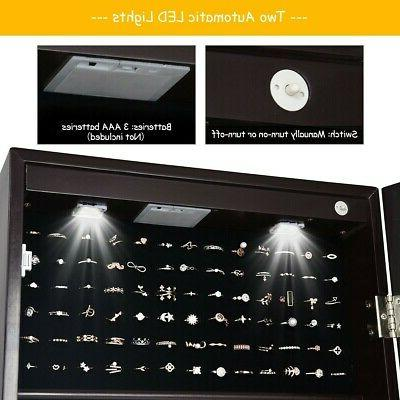 Lockable Mirrored with Stand Lights
