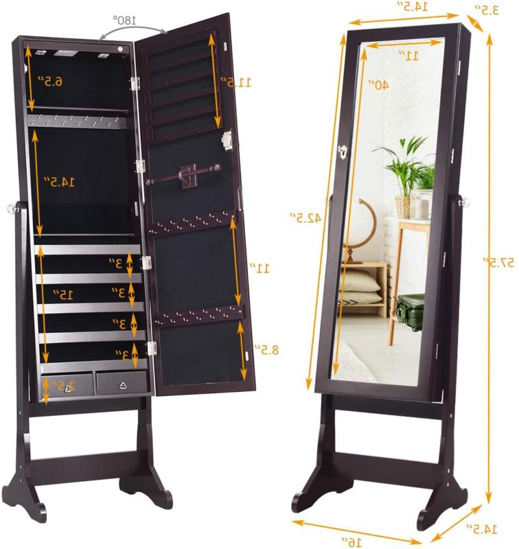 Lockable Standing Jewelry with Full-Length