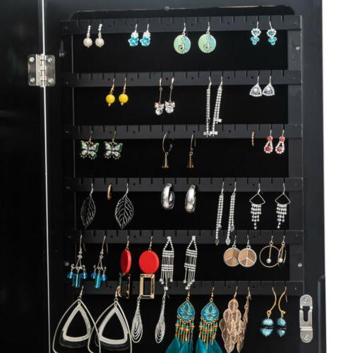 Mirrored Armoire,Standing Full Body Jewelry Organizer Lockable