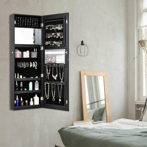 Mirrored Jewelry Cabinet Locks