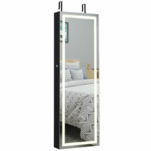 Mirrored Jewelry Door Wall Mount Touch Locks 16x5x47in