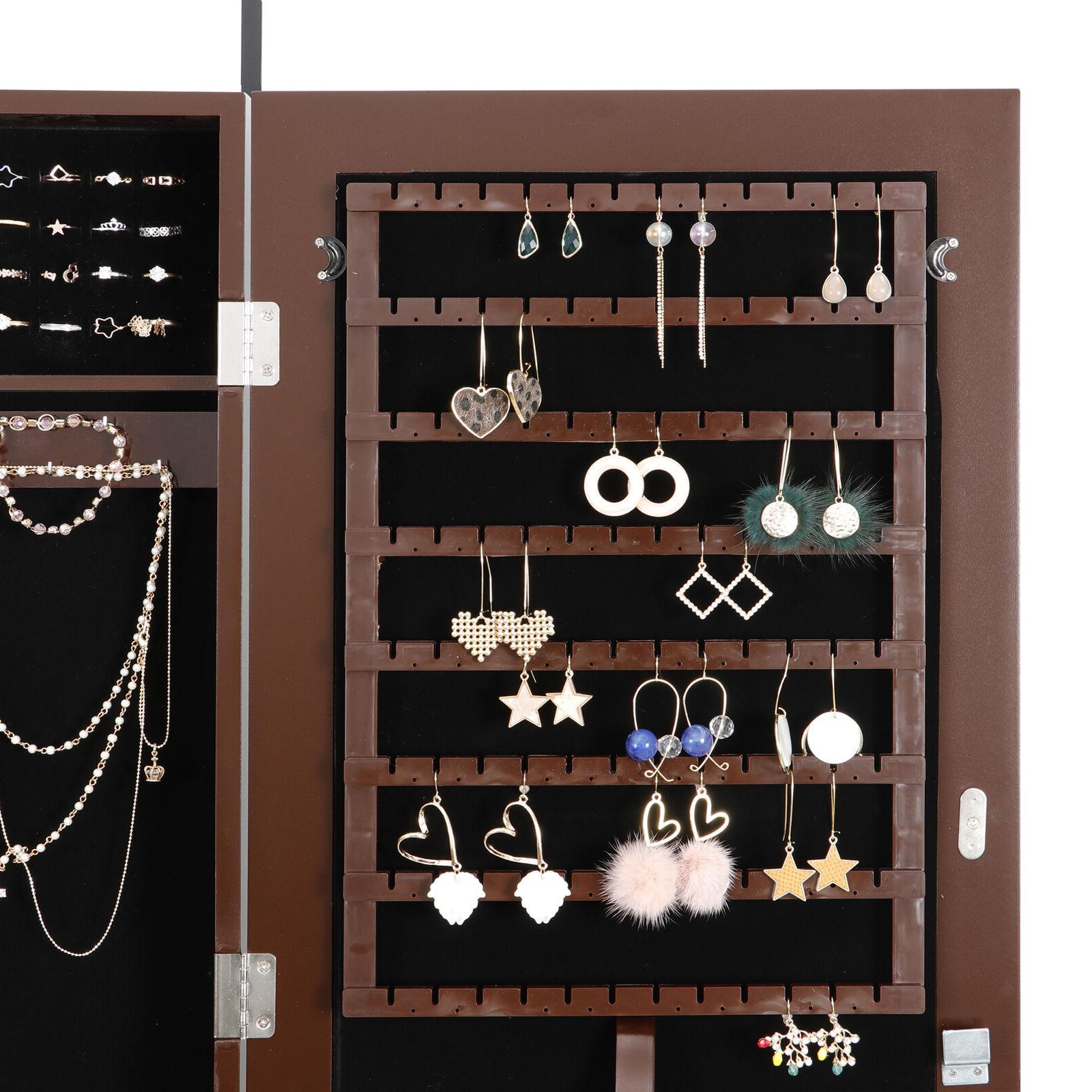 Wall Armoire Jewelry Box Organizer Mirror