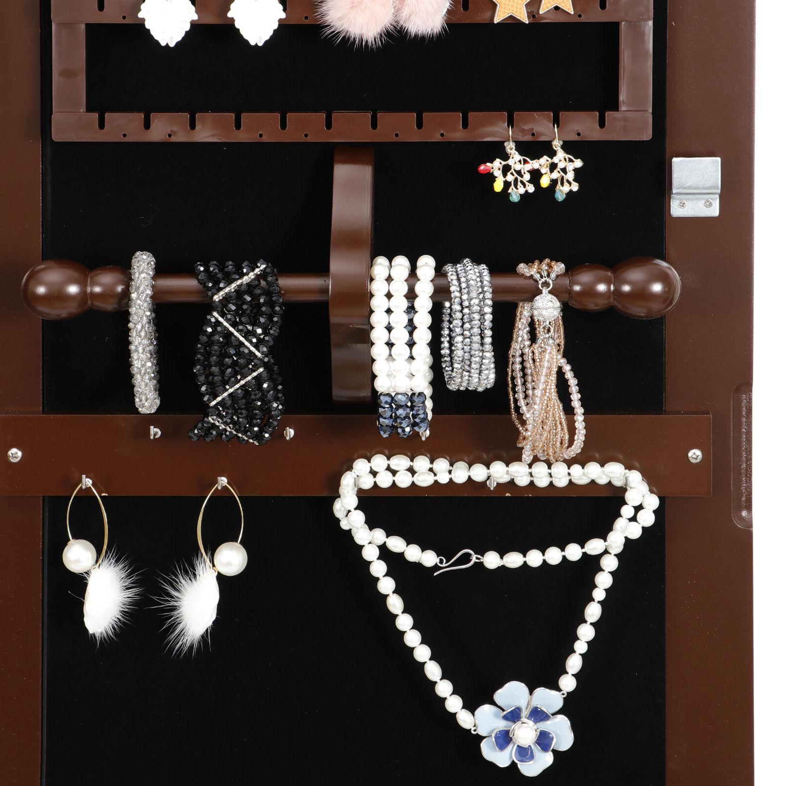 Mounted Jewelry Cabinet Box Organizer