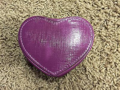 nwot purple heart shaped jewelry holder mirror